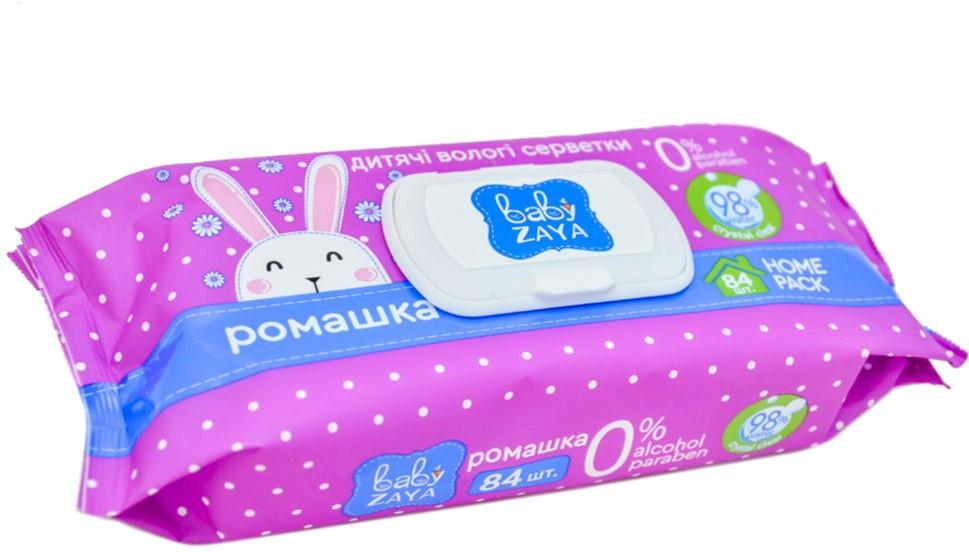 Влажные салфетки Baby Zaya Ромашка 84 шт