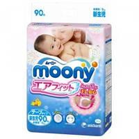 Японские подгузники Moony NB90 1 (Newborn) Унисекс