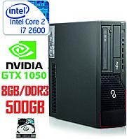 Компактный игровой компьютер Intel Core i7 4-ядра 3.4-3.8GHz/DDR3-8Gb/HDD-500Gb/ Nvidia GTX1050 2Gb