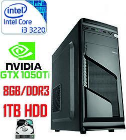 Игровой компьютер Intel Core i3 - 2 ядра 3.3GHz/DDR3-8GB/HDD-1Tb/Nvidia GTX1050Ti 4GB