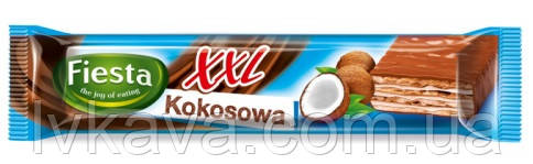 Шоколадные  вафли Fiesta XXL kokosowa, 50 гр