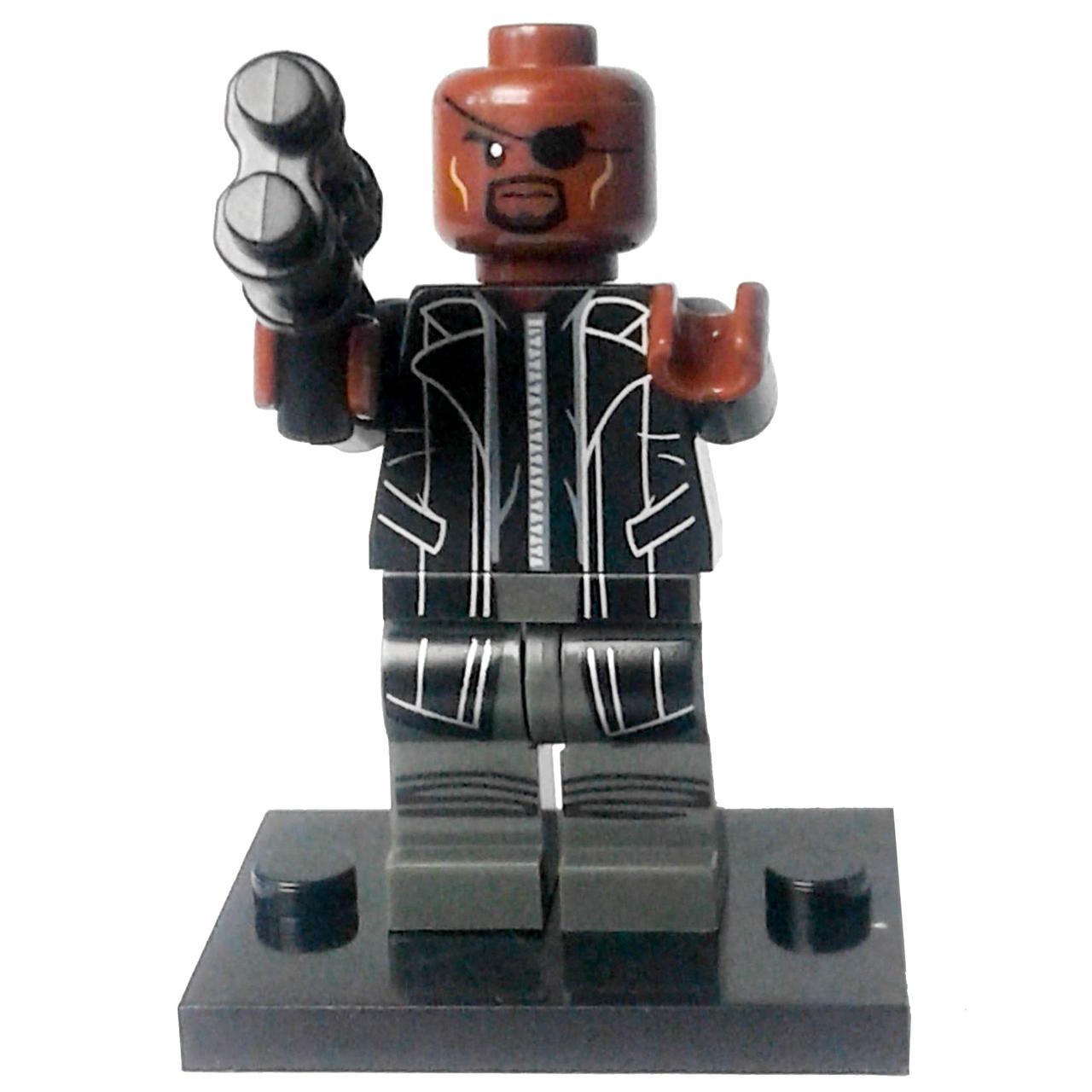 Ник Фьюри Супергерой Марвел Мстители Аналог лего