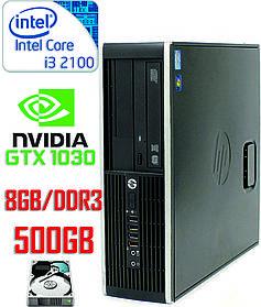 Компактный игровой компьютер Intel Core i3  / 8Gb-DDR3 / HDD-500Gb / GeForce GT 1030