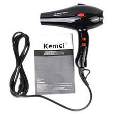 Фен для волос Kemei KM-8906 3000W с ионизацией, фото 2
