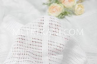 Филейное полотно  белого цвета 240 см  №  Ф-01