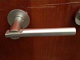 Дверная ручка на пятаках в комплекте с входной накладкой, фото 3