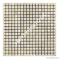 Мраморная Мозаика Полированная МКР-4П (15x15) 6 мм Beige Mix