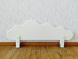 """Белый защитный бортик из массива натурального дерева от производителя """"Облако"""" 100 см., фото 3"""