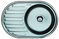 Мойка кухонная IMPERIAL 7750 Polish (770*175/180*500*мм) толщина 0,8 мм