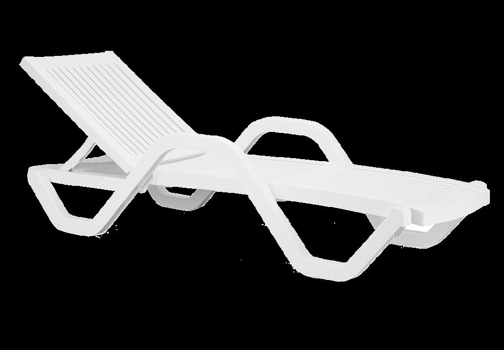 Шезлонг Papatya Myra K (цвет белый)