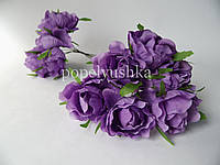 Троянда 4 см фіолетова на дротику