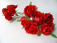 Троянда 4 см червона на дротику