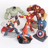 """Фигурки героев фильма """"Мстители""""  Marvel Avengers 6 шт"""