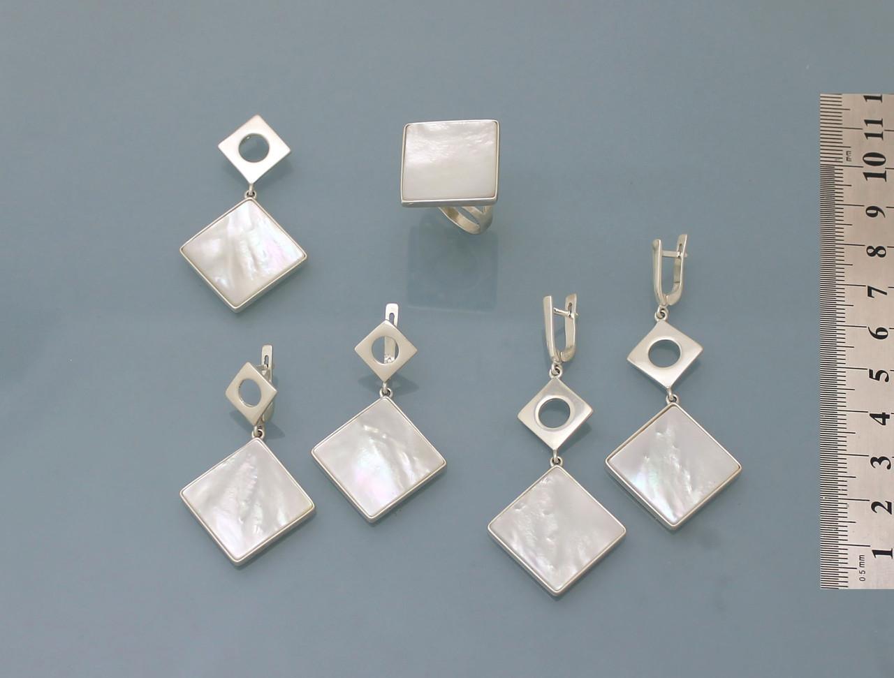 Комплект из серебра 925 пробы с натуральным перламутром