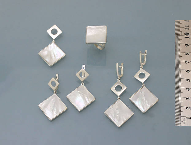 Комплект из серебра 925 пробы с натуральным перламутром, фото 2