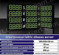 Светодиодное табло обмен валют двустороннее 500х400 мм LED-ART-500х400-2