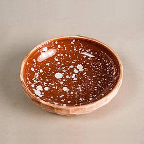 Тарелка мелкая - 15 см, Коричневая (Ucr Ceramic) Галактика