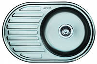 Мойка кухонная IMPERIAL 7750 Satin (770*175/180*500*мм) толщина 0,8 мм