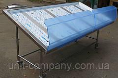 Вітрина для викладки риби на льоду 1000х800х1000