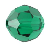 Намистини з натурального каменю Сваровскі 5000 Emerald