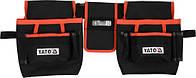 Пояс с 4 карманами для инструментов и держателем для рулетки YATO
