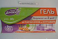 Шприц гель от тараканов и муравьев Прошка Домовой, 30 грамм.