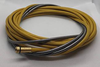 Спираль подающая стальная желтая 2,5/4,5/540см, 124.0044, для проволоки D 1,4 - 1,6 мм, 124.0044A, A-Weld