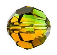 Намистини з натурального каменю Сваровскі 5000 Fern Green-Topaz Blend