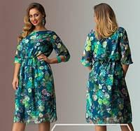 Платье нат 3031 шифоное батал