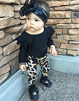 Модний комплект двійка для маленьких дівчаток / Модный крутой комплект одежды для маленьких девочек
