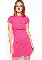 Платье поло Lacoste розовое