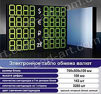 Светодиодное табло обмен валют одностороннее 700х500 мм LED-ART-700х500-1