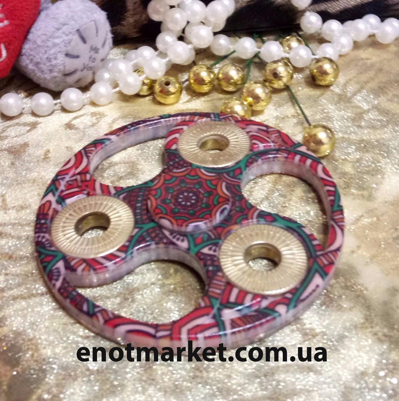Спиннер, вертушка, крутилка для рук, finger spinner, hand spinner, spinner fidget toys керамический цветной, фото 1