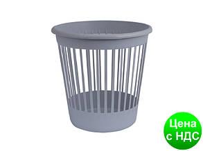 Корзина офісна для паперу 10л., пластик, сірий 82060
