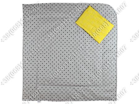 Летний конверт на выписку Звездочки серый с желтым, фото 2