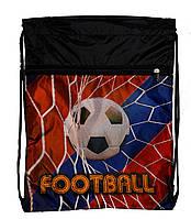 """Рюкзак Vombato 7859-2 """"Футбол"""" сумка для сменной обуви красная на шнурках с карманом"""