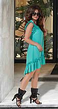 Асимметричное платье с оборками, фото 3
