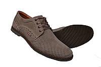 Мужские  туфли летние  кожаные олива, фото 1