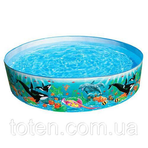 Дитячий каркасний басейн Intex 58461 касатки 183-38 см