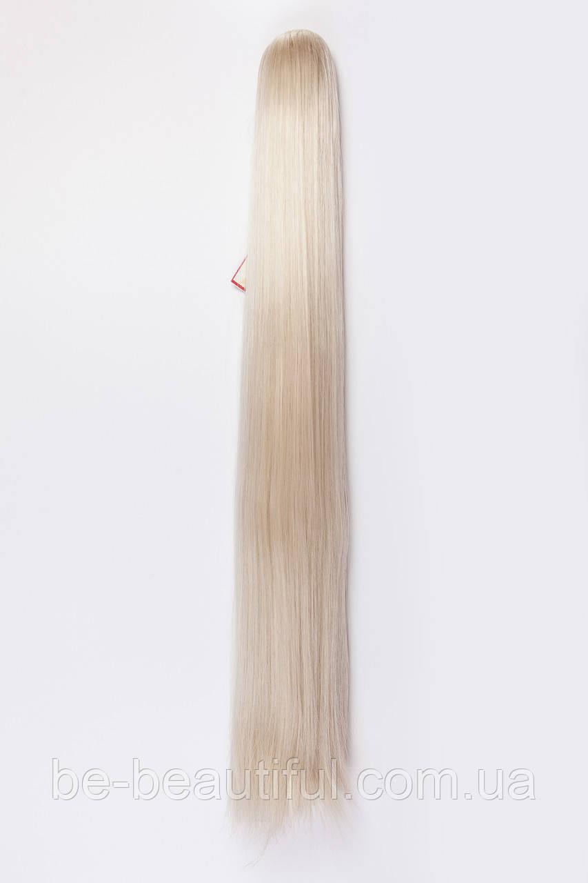 Ровный шиньон на крабе №8.цвет классический блонд