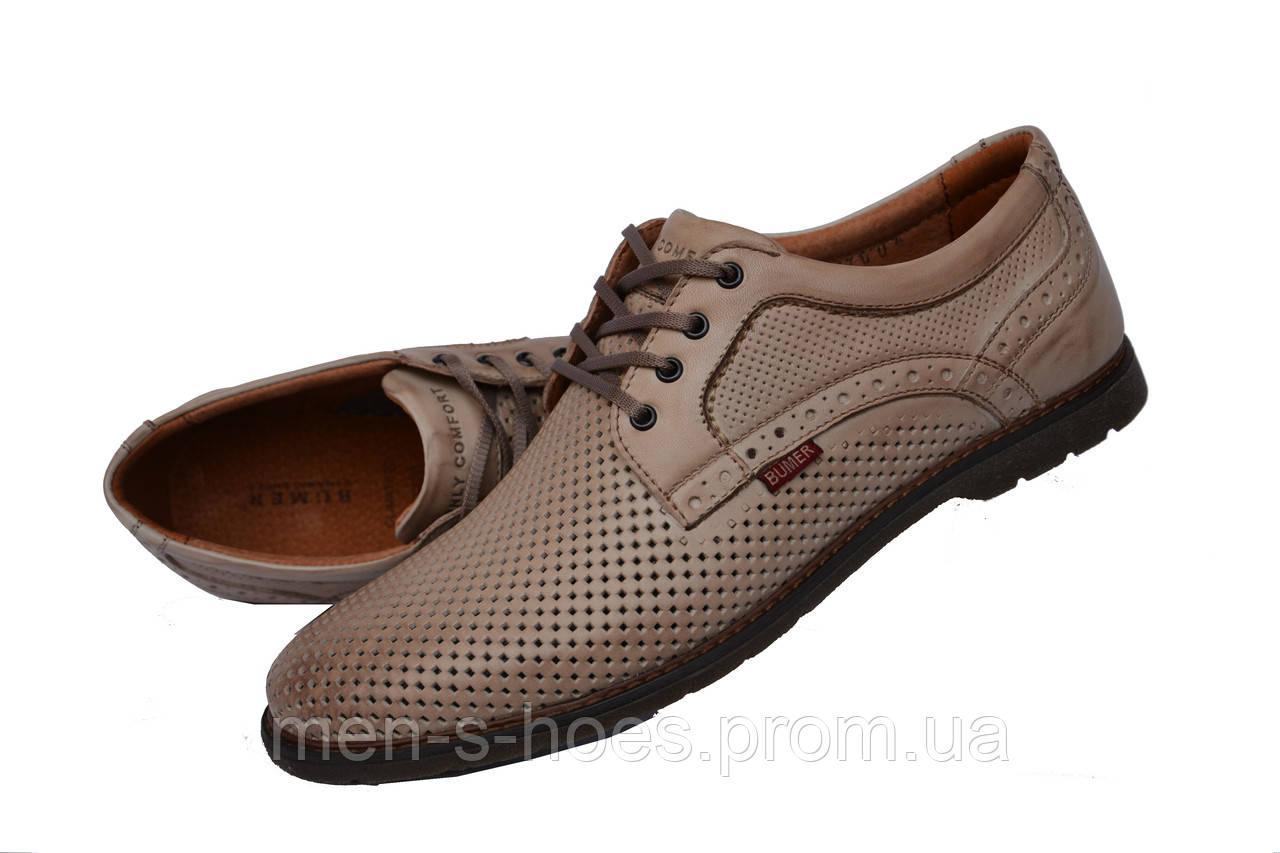 Мужские  туфли летние  Brown