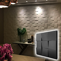 "Форма для 3D панелей ""Рубик"" 500*500 мм. АБС пластиковая форма для 3Д панели, фото 1"