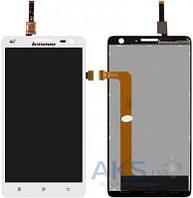 Дисплей (экран) для телефона Lenovo S856 + Touchscreen White