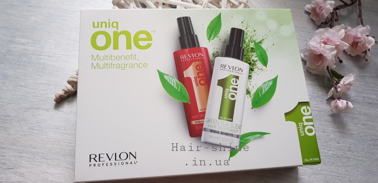 Набор для волос Revlon Professional Uniq One classic  спрей 150мл +green tea  спрей 150мл