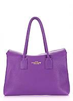 Женская кожаная сумка POOLPARTY SENSE VIOLET фиолетовая