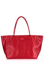 Женская кожаная сумка POOLPARTY DESIRE SAFYAN SCARLET красная