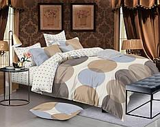 Двуспальный комплект постельного белья евро 200*220 сатин (12240) TM КРИСПОЛ Украина