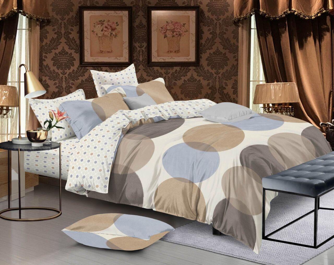 Семейный комплект постельного белья сатин (12246) TM КРИСПОЛ Украина
