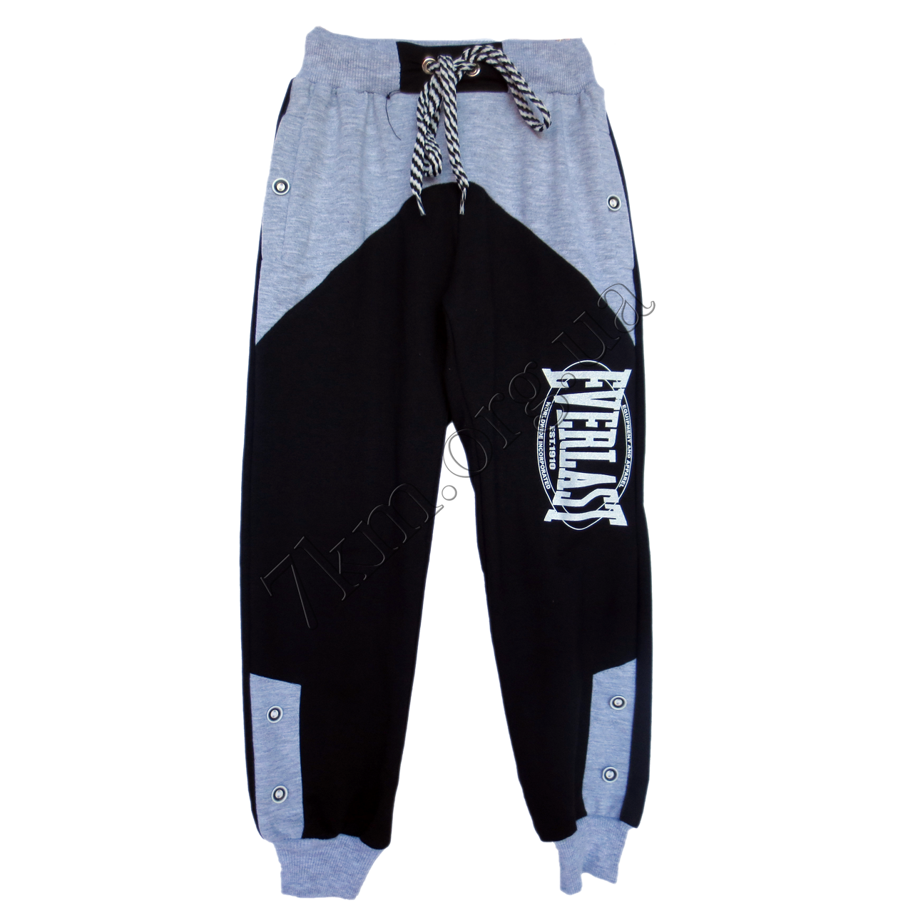 """Спортивные штаны (Реплика) """"Everlast"""" для мальчиков (5-8 лет) Темно синие с серым трикотажные"""