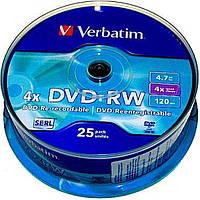 """Диск DVD-RW """"Verbatim"""" 4х 4. 7Gb/ 120 min"""